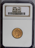 Indian Cents: , 1896 1C MS65 Red NGC. A peach-gold beauty with a hint of dusky mellowing on the central reverse. Suitably struck, and the m...