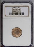 Proof Indian Cents: , 1871 1C PR65 Red and Brown NGC. Moderately mirrored despite the chestnut color that covers much of the coin. Original orang...