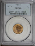 Proof Indian Cents: , 1873 1C Closed 3 PR65 Red and Brown PCGS. A boldly struck Gem with orange-gold fields and lilac shades on the cheek and the...