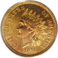 Proof Indian Cents: , 1873 1C Closed 3 PR65 Red PCGS. A lovely Gem proof example of the Closed 3 date style, as are all proofs of this issue. Gla...