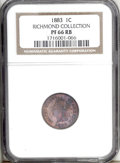Proof Indian Cents: , 1883 1C PR66 Red and Brown NGC. Ex: Richmond Collection. Vivid orange and magenta-violet dominates the obverse, while the s...