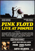 """Movie Posters:Rock and Roll, Pink Floyd: Live at Pompeii/About Face (EMI, 1984). PromotionalBritish Crown (13.75"""" X 19.75""""). Rock and Roll.. ..."""