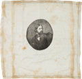 Political:Textile Display (pre-1896), John C. Fremont: Ultra-Rare Silk Handkerchief....