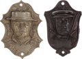 Political:3D & Other Display (pre-1896), Ulysses S. Grant and Horace Greeley: Figural Wall Match Safes.... (Total: 2 Items)