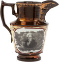 Political:3D & Other Display (pre-1896), Andrew Jackson: Choice Copper Luster Pitcher....