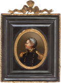 Political:3D & Other Display (pre-1896), Zachary Taylor: Reverse Painting Wall Plaque....