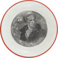 Political:3D & Other Display (pre-1896), Andrew Jackson: Campaign Cup Plate....