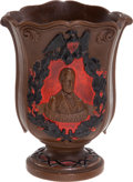 Political:3D & Other Display (pre-1896), Abraham Lincoln: Period Redware Vase....