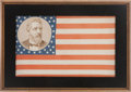 Political:Textile Display (pre-1896), James G. Blaine: Graphic Portrait Flag....
