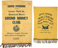 Political:Textile Display (1896-present), William McKinley: Pair of Coffee Exchange Bannerettes. ... (Total: 2 Items)