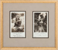 Political:Small Paper (1896-present), Herbert and Lou Henry Hoover: 1932 Presidential Christmas Card. ...