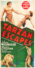 "Movie Posters:Adventure, Tarzan Escapes (MGM, 1936). Three Sheet (41"" X 81"").. ..."