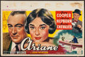 """Movie Posters:Romance, Love in the Afternoon (Allied Artists, 1957). Belgian (14"""" X 21""""). Romance.. ..."""