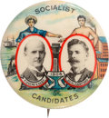 Political:Pinback Buttons (1896-present), Debs & Hanford: 1904 Workers Jugate....