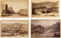 Photography:Cabinet Photos, Four Albumen Boudoir Cards: Four Exceptional Views of ColoradoTowns and Scenery, Circa 1890-1900.... (Total: 4 Items)