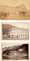 Photography:Cabinet Photos, Three Mounted Photographs: Three Views of Colorado, Circa1880-1890.... (Total: 3 Items)