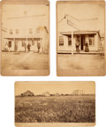 Photography:Cabinet Photos, Three Mounted Photographs: Views of Valley City and Casselton,Dakota Territory, Circa 1880-1889.... (Total: 3 Items)