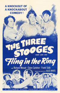 """Fling in the Ring (Columbia, 1955). One Sheet (27"""" X 41"""")"""