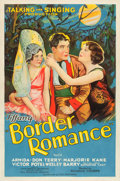 "Movie Posters:Western, Border Romance (Tiffany, 1929). One Sheet (27"" X 41"") Blue Style....."