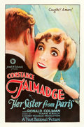 "Movie Posters:Comedy, Her Sister From Paris (First National, 1925). One Sheet (27"" X41"").. ..."