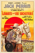 "Movie Posters:Western, Lariats and Six-Shooters (States Rights Independent Exchanges, 1931). One Sheet (27"" X 41"").. ..."