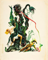 "The Day of the Triffids (Allied Artists, 1962). Joseph Smith Original Movie Poster Art (22"" X 27.25"")"
