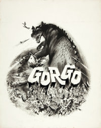 "Gorgo (MGM, 1961). Joseph Smith Original Movie Poster Art (19"" X 24"")"
