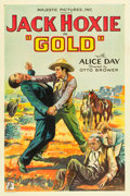 """Movie Posters:Western, Gold (Capital Film Co., 1932). One Sheet (27"""" X 41"""").. ..."""