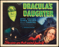 """Dracula's Daughter (Universal, 1936). Title Lobby Card (11"""" X 14"""")"""