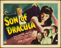 "Movie Posters:Horror, Son of Dracula (Universal, 1943). Title Lobby Card (11"" X 14"")....."