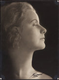 "Movie Posters:Photo, Greta Garbo by Olaf Ekstrand (1923). Swedish Portrait Photo (7"" X9.5"").. ..."