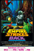 "Movie Posters:Science Fiction, The Empire Strikes Back (NPR, 1982). Radio Promo Posters (2) (10"" X22"" & 17"" X 28""). From the collection of the late John...(Total: 2 Items)"