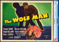 "Movie Posters:Horror, The Wolf Man (Universal, 1941). CGC Graded Title Lobby Card (11"" X 14"").. ..."
