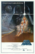 "Movie Posters:Science Fiction, Star Wars (20th Century Fox, 1977). First Printing One Sheet (27"" X41"") Style A, Flat Folded. From the collection of the ..."