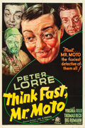 "Movie Posters:Mystery, Think Fast, Mr. Moto (20th Century Fox, 1937). One Sheet (27"" X41"").. ..."