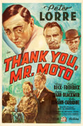 "Movie Posters:Mystery, Thank You, Mr. Moto (20th Century Fox, 1937). One Sheet (27"" X41"").. ..."