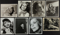Greta Garbo Lot (MGM, 1930s-1980s). Original Photo, 18 Reprinted Photos From Dupe Negatives, Paper Printed Photo, (8&quo...