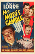 "Movie Posters:Mystery, Mr. Moto's Gamble (20th Century Fox, 1938). One Sheet (27"" X 41"")....."