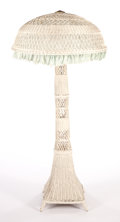 Furniture , AN AMERICAN PAINTED WICKER BAR HARBOR-TYPE STANDING FLOOR LAMP . Circa 1920. 65 inches high x 29 inches diameter (165.1 x 73... (Total: 2 Items)