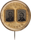 Political:Ferrotypes / Photo Badges (pre-1896), Grant & Colfax: Striking Ferrotype Jugate....