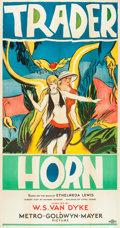 "Movie Posters:Adventure, Trader Horn (MGM, 1931). Three Sheet (41"" X 81"") Style B.. ..."