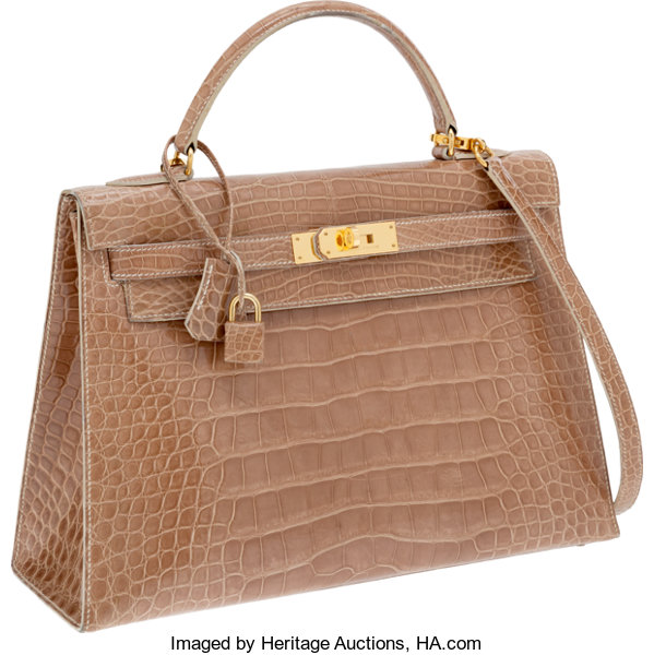 8768fb5db686 ... ireland luxury accessoriesbags hermes 32cm shiny poudre alligator  sellier kelly bag with goldhardware. 32d93 05cb8