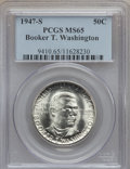 Commemorative Silver: , 1947-S 50C Booker T. Washington MS65 PCGS. PCGS Population(581/252). NGC Census: (329/225). Mintage: 100,000. Numismedia W...