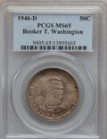 Commemorative Silver: , 1946-D 50C Booker T. Washington MS65 PCGS. PCGS Population(863/300). NGC Census: (622/299). Mintage: 200,113. Numismedia W...