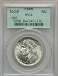 Commemorative Silver: , 1936 50C Boone MS64 PCGS. PCGS Population (707/1110). NGC Census:(438/874). Mintage: 12,012. Numismedia Wsl. Price for pro...