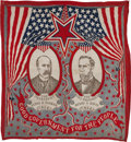 Political:Textile Display (1896-present), Parker & Davis: Jugate Cotton Bandanna....