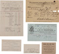 Miscellaneous:Ephemera, Group of Six Pieces of Wild West Business Paper. ... (Total: 6Items)