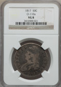 Bust Half Dollars: , 1817 50C VG8 NGC. O-110a. NGC Census: (10/429). PCGS Population(7/604). Mintage: 1,215,567. Numismedia Wsl. Price for pro...