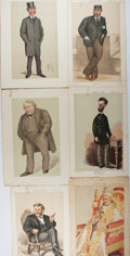 Books:Literature Pre-1900, [Vanity Fair]. Seven Color Plates of Gentlemen. Extracted fromVanity Fair magazine, 1870-1879. Light toning and a few t...