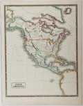 Books:Maps & Atlases, [Map]. [Republic of Texas]. Map of North America with Texas as a Republic. ca. 1846. Approx. 15.5 x 12.25 inches. Hand-color...